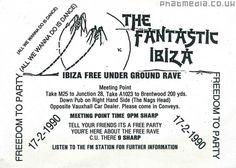 Fantastic Ibiza 1990 Freedom To Party - uploaded to #phatmedia #raveflyers #acidhouse #freedomtoparty #m25