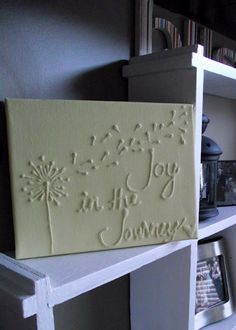 I could make this for $3.00 plus tax. Canvas at dollar store = $1, glue at dollar store = $1, paint at dollar store = $1.