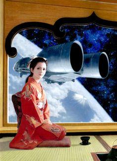 Tea Girl by Hikaru Tanaka    He is an illustrator from Tokyo who has won the Hayakawa Award for science fiction art three times.