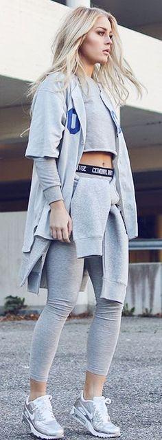 Grey Sporty Combo Fall Inspo #Fashionistas