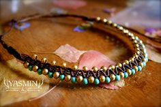 mayan micro macrame necklace by yasmin