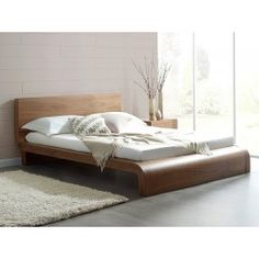 Roma Natural Walnut Contemporary Bed - Modern Bedroom Furniture | Living It Up | Living It Up