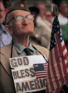 a veteran..God bless him. They've been there for us, we need to be there for them