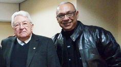 Presidente da Seguradora JMALUCELLI , Dr. João Possiede e o Presidente do clube Fausto Dorea