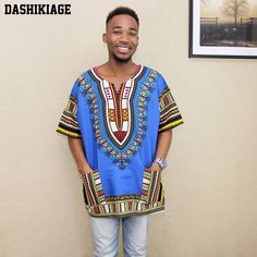 New Fashion Design African Traditional Print Cotton Dashiki T-shirt Traditional Fashion, Traditional Outfits, Dashiki Shirt, Designer Flip Flops, Best Flip Flops, African Attire, African Fashion, African Style, Clothing Items