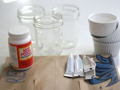 Tinting mason jars... another idea for wedding decorations as well