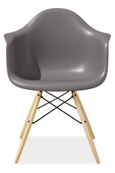 Eames Molded Plastic Armchair.   Dining Chairs