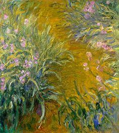 Клод Моне - Path through the Irises 01, 1914-17. Клод Оскар Моне