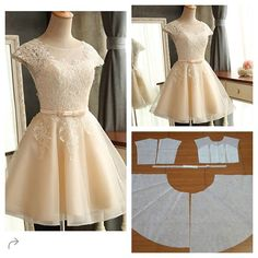 Short Dress Pattern Lengthened, I'd bet this would make a beautiful wedding dress