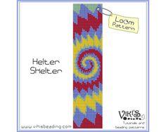 Loom Bracelet Pattern: Helter Skelter - INSTANT DOWNLOAD pdf -Discount codes are available - bl192