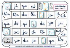 Juegos de la oca para leer sílabas y palabras compuestas por las letras D, J, Y, LL, B, V, Z, C, R ideales para reforzar el aprendizaje de la lectura Spanish Lessons, Teaching Spanish, Familia Y Cole, Teaching Tools, Prompts, Homeschool, Language, Teacher, Games