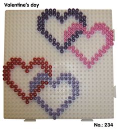 Valentines Day Hearts hama perler pattern - Club Hama