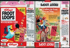 Kellogg's Froot Loops   Kellogg's Froot Loops cereal box - Safety Stickers - 1978   Flickr ...