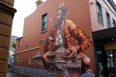 #mural by Fintan Magee #Wollongong #Australia #streetart #graffitti #art