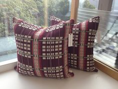 Designer Pillows featuring Knoll - Mod Plaid Groovy. $85.00, via Etsy.