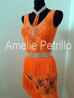 orange latin dress | AMELIE PETRILLO Latin | DeJo`s Danceworld