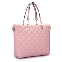 New Trending Tote Bags: Dasein Faux Leather Quilted Tote Shoudler Bag Handbag with Chained Handles (Pink). Dasein Faux Leather Quilted Tote Shoudler Bag Handbag with Chained Handles (Pink)  Special Offer: $39.99  177 Reviews About This Bag • Our classic medium tote is forever in style. Elegant and easy. Season to season, this perennial piece will take you everywhere.• This bag measures...