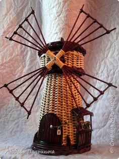 Поделка изделие Плетение Мастер-класс Мельница-бар Часть 3 Бумага Трубочки бумажные фото 1
