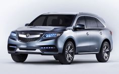 2014 Acura MDX Prototype Luxury SUV: Front Quarter View
