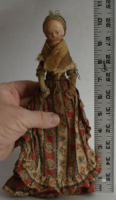 Antique Doll Queen Anne 18th C Original Magnificent Estate Find 10 Inch | eBay  sold for $1602.77
