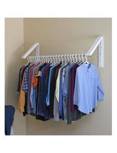 Wall Cloth Hanger create convenient sturdy hanging storage for clothes hangers with