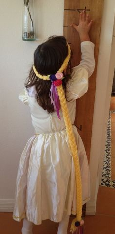 Repunzel hair by CallMeCraftie on Etsy, $14.00