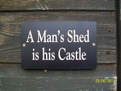 castle christmas doors | CHRISTMAS GIFT ,Shed Sign. A Man's shed is his castle. | eBay