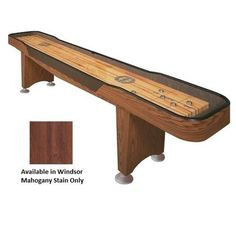 Champion 12-Foot Shuffleboard Table - Qualifier Series, Brown