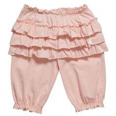 Muffin Baby Girls Pink Ruffle Trousers at Childrensalon.com