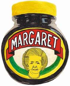 Margaret Thatcher: the Marmite PM Margaret Thatcher, Creative Review, Marmite, Graphic Design Illustration, Pictures, Hate, Packaging, Concept, Chic