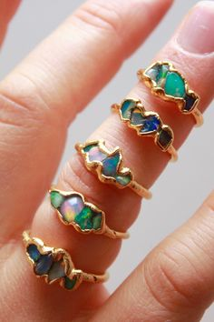 Raw opal stones, just as mother nature made them.