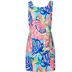 Rental Lilly Pulitzer Cathy Shift ($35) ❤ liked on Polyvore featuring dresses, lilly pulitzer dresses, pink dress, shift dress, sleeveless dress and pink floral print dress