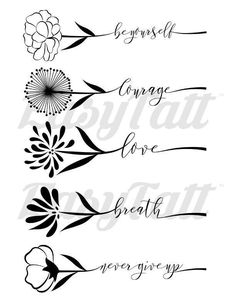 Little Floral Inspirations - By Yenty Jap temporary tattoos and fake tattoos by EasyTatt - Look 100% real