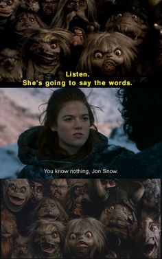 I think i just realized how much Labyrinth influenced my current #GoT obsession. #Ygritte