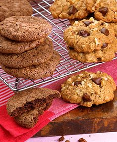 Oatmeal chocolate chip cookies: These oatmeal chocolate chip cookies have the familiar flavors of brown sugar and chocolate, but get a sophisticated twist from tahini (sesame paste). Tahini helps to lower the saturated fat while adding a nutty flavor.  #TribCookies