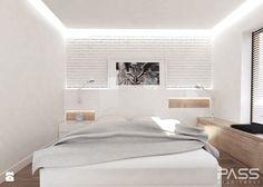 projekt 6 - Mała sypialnia małżeńska, styl minimalistyczny - zdjęcie od PASS architekci