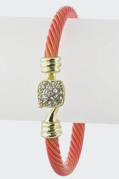 Coral Cable Bracelet $12