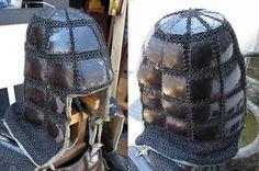Antique Edo period samurai karuta tatami kabuto (folding helmet with karuta armor).