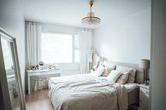 White & Fresh Bedroom (Jonnamaista blog)