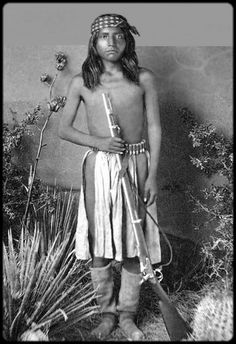 Apache scout. Photograph taken between 1878 and 1886.
