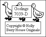 Goslings rubber stamp to go with the Goose stamp on a farm setting, designed by Kathryn Read at Holly Berry House Originals