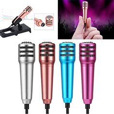 Mini Condenser Microphone,Uniwit Mini Portable Vocal/Instrument Microphone For Mobile phone laptop Notebook Apple iPhone Sumsung Android With Holder Clip - Rose Red