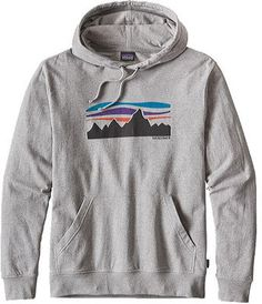 Men's Patagonia Fitz Roy Banner Lightweight Hoody - Feather Grey Pullovers
