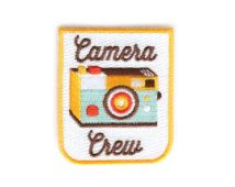 Camera Crew Iron On Patch - Embroidered Patch - Woven Patch - Mokuyobi Threads - Patches for Jeans - Cute Patches - Patches for Jackets
