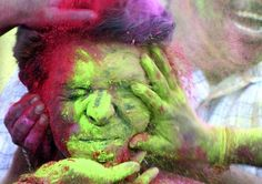 Holi, the Hindu festival of colour. (x) This has to be the most beautiful celebration on the planet.