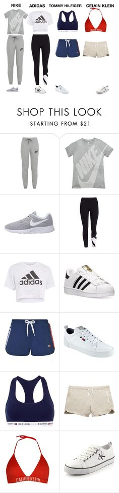"""Nike, Adidas, Tommy Hilfiger, Celvin Klein"" by danielle-sitte on Polyvore featuring NIKE, Topshop, adidas, Tommy Hilfiger, Calvin Klein and Calvin Klein Jeans"