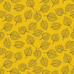 Buy Elegant Pattern with Leafs Drawn in Thin Lines by tukkki on GraphicRiver. Simple elegant pattern with leafs drawn in thin lines in black on yellow gold. Seamless vector texture for web, print. 1950s Wallpaper, Pattern Wallpaper, Print Wallpaper, Graphic Art, Graphic Design, Leaf Drawing, Thin Line, Information Graphics, Graphic Patterns