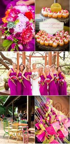 The Wild Onion Ranch Wedding by Caplan Miller Events | Style Me Pretty Cory Ryan Photography - Petal Pushers - FILO Production bright colored wedding succulent - peonies - dahlias - berries - ranunculas