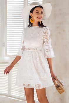 b70a5dd324  65 Women s Mini Lace Dress - Gypsy Bell Sleeves