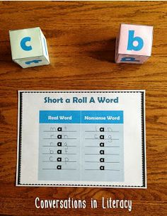 Short Vowel Roll A Word$-  6 Short Vowel Activities included:  Great for RtI, Small Groups or Literacy Centers!